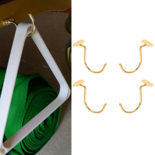 4pcs 2.8/'/' Small Brass Hook for Pool Table Rack Hanging Rest Stick Holders