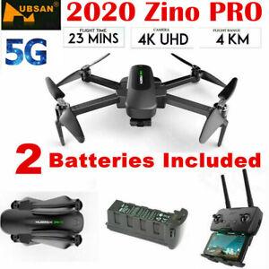 HUBSAN Zino PRO 4KM Drone 4K Camera WIFI FPV Quadcopter W/3Axis Gimbal+2Batter