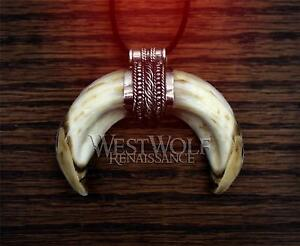 Viking Boar Tusk Pendant in Sterling Silver -- Norse/Celtic/Medieval/Fang/Tooth | eBay