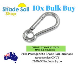 10mm BULK BUY X10 Dee D Shackle Cast Shade Sail Boat Accessories Electropolish