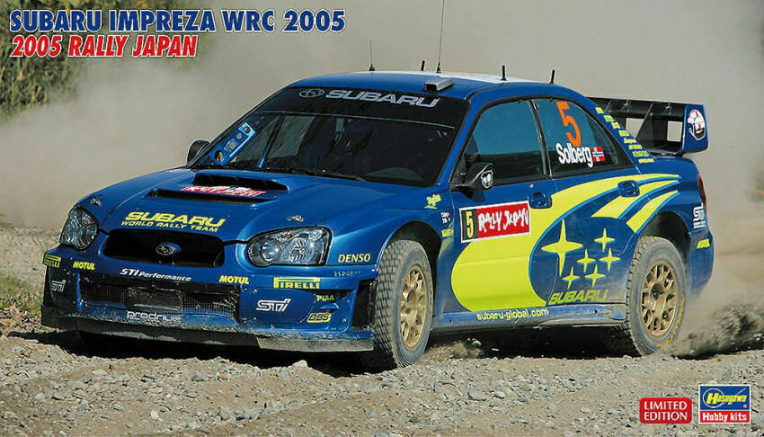 Subaru impreza wrc 2005 rally japan plastic model kit 1 24 hasegawa