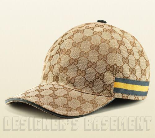 gucci baseball cap uk price ebay beige canvas blue yellow web ribbon hat authentic