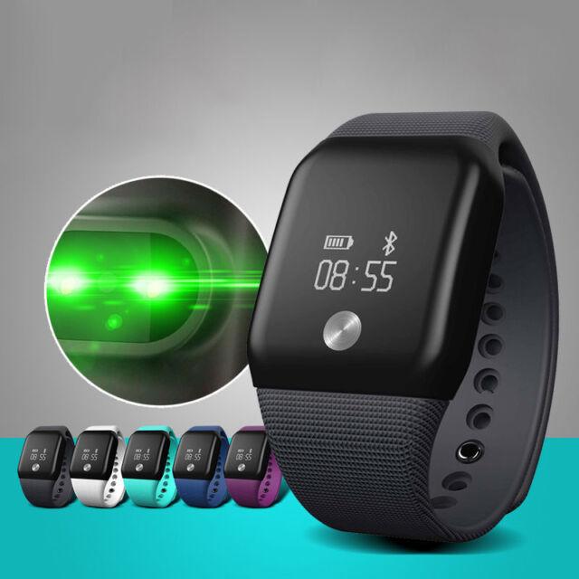 Moniteur de fréquence cardiaque smart watch bluetooth bracelet bracelet podomètre tracker