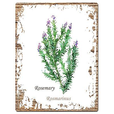 PP0703 Herb Rosemary Plate Sign Home Room Kitchen Store Restaurant Decor Gift