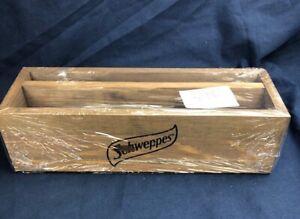 SCHWEPPES-Wooden-Condiment-Menu-Holder-Caddy-Box-Restaurant-Cafe-Bar-Hotel-NEW