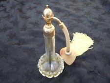 Vaporisateur à parfum cristal taillé Marcel Franck d'époque Art Nouveau