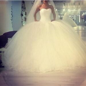 fe9dabbf6220 White Sparkly A-Line Beading Ball Gown Quinceanera Wedding Bridal ...