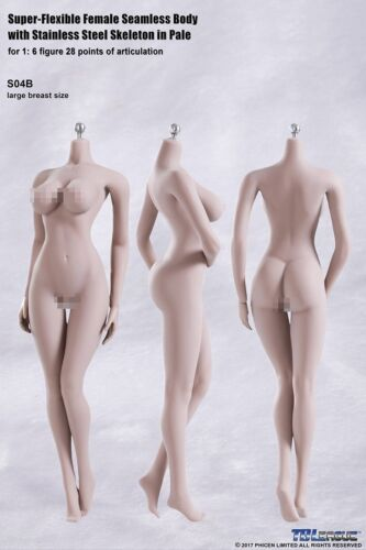TBLeague PHICEN S04B 1//6 Female Seamless Buttock Curved Body L Bust PALE USA