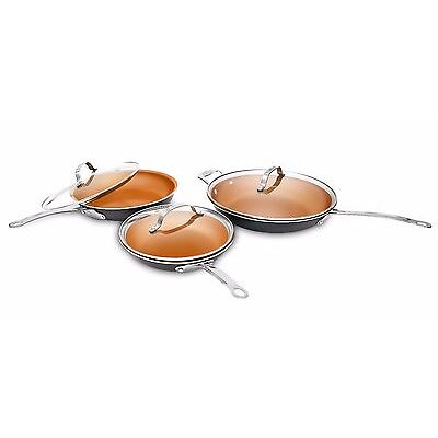 Gotham Steel 6 Piece Ultimate Fry Pan Set with Lids - As Seen on TV - BRAND NEW!
