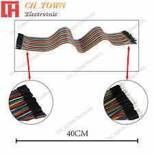 40pcs 40cm Dupont Wire Male To Female Breadboard Jumper Wires Ribbon Cable