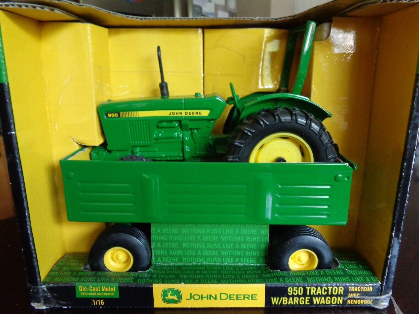 John Deere 950 Tracteur avec péniche  Wagon 1 16 Diecast RC2 ERTL 2006  marchandise de haute qualité et service pratique et honnête