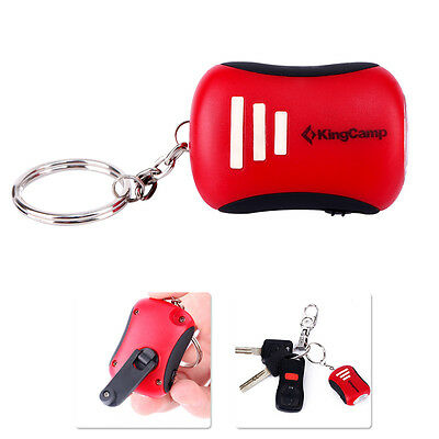 KingCamp Portable LED Mini Dynamo Keychain Torch Attached with luminescent film