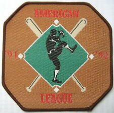"BASEBALL AUFNÄHER / PATCH # 1 ""MLB AMERICAN LEAGUE 91/92"" - 9x9cm"