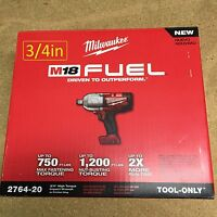 Impact Wrenches Milwaukee Fuel 18-Volt Lithium-Ion Brushless 3 4 in. Cordless High Torque Wrench with Friction Ring Kit Bare Tool 2764-20 Tools and Accessories