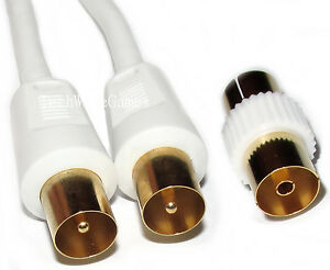 5m-RF-Coaxial-Digital-TV-Aerial-Cable-Fly-Lead-Flylead-Extension-Gold-Male-to