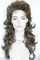 Light Chestnut Brown Brunette Wavy Long Wigs