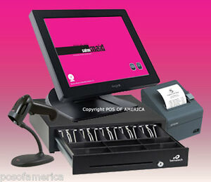 Posiflex POS Maid for Salon Spa All-in-one Station Complete