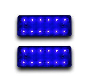 2-X-12V-12LED-Blue-lamparas-de-despacho-de-Esquema-Luces-Posicion-Camion-Ford-Renault
