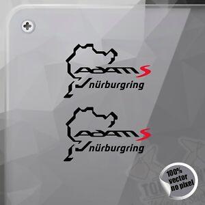 Details About Pegatina Nurburgring Opel Adam S Vinyl Sticker Autocollant Aufkleber Adesivi