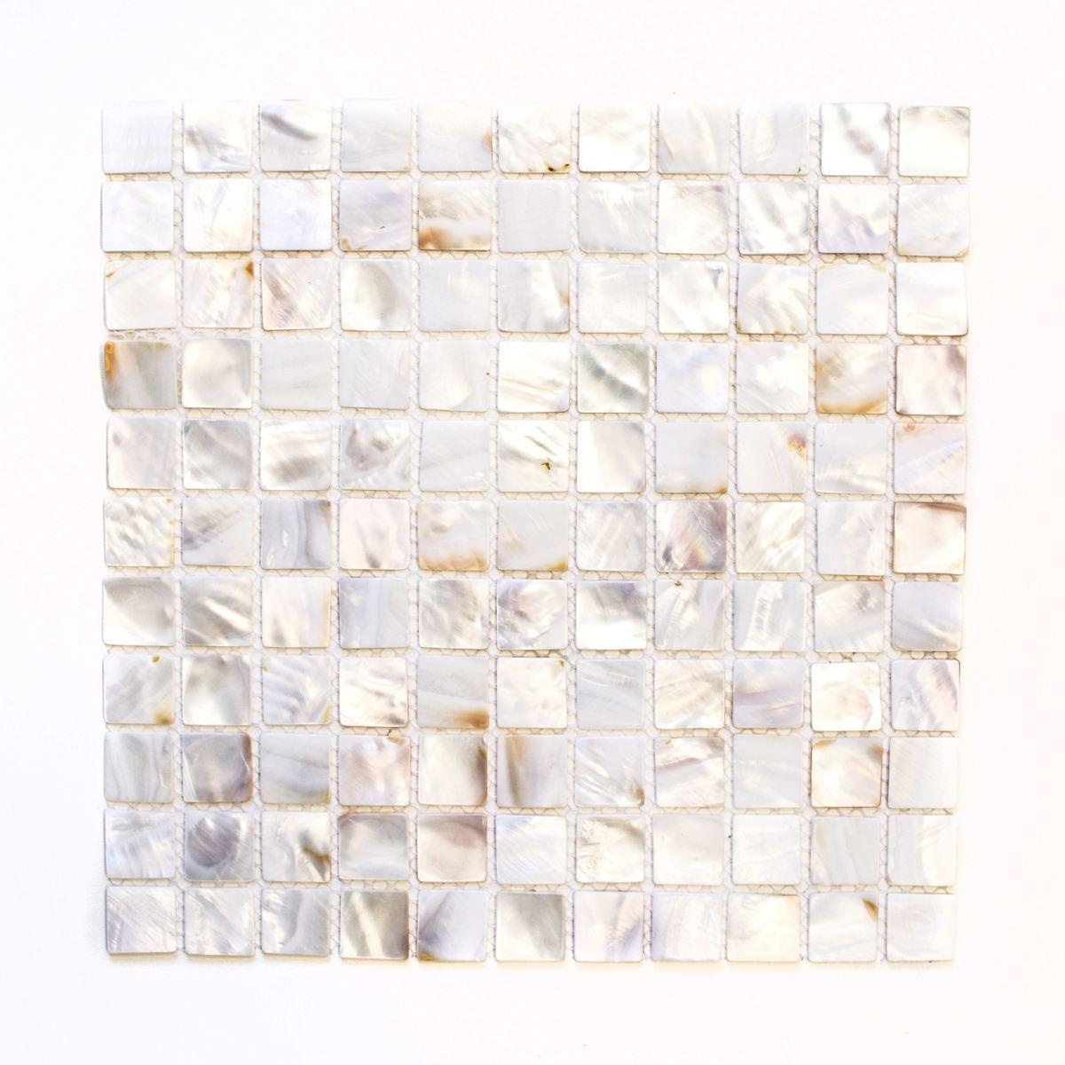 Mosaik Fliese Muschel permutt Wandverblender Bad Dusche 150-SM2525_f  10Matten