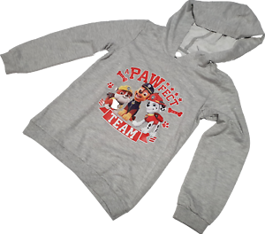 Paw Patrol Kinder Jungen Kapuzen Sweatshirt Hooded Größe 122//128 Grau