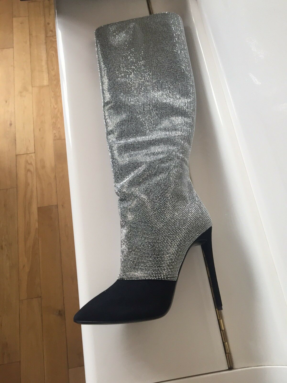 Giuzeppe ZANOTTI Stivali con cristalli svarovski misura IT 37,5