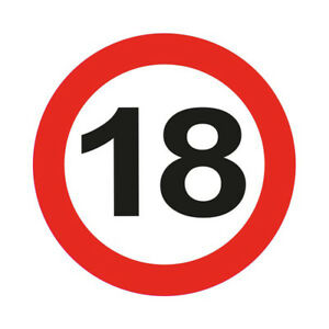 18TH-BIRTHDAY-PARTY-GIANT-12CM-FLASHING-LED-BADGE-AGE-TRAFFIC-SIGNS