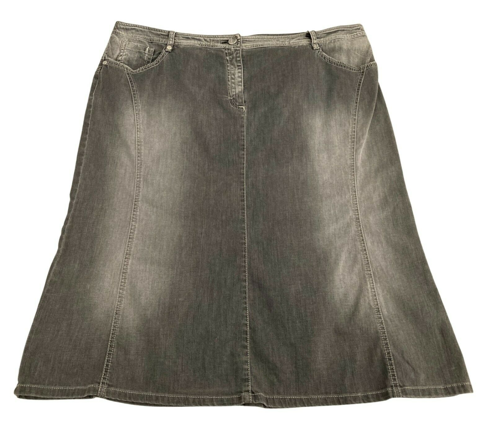 ELENA MIRò Rock Frau Jeans Grau Vintage Art. 1168F 1544J
