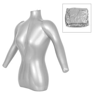 Three T 1x Man Half Body Arm Inflatable Mannequin Dummy Torso Model Jewelry Tops Clothes Display