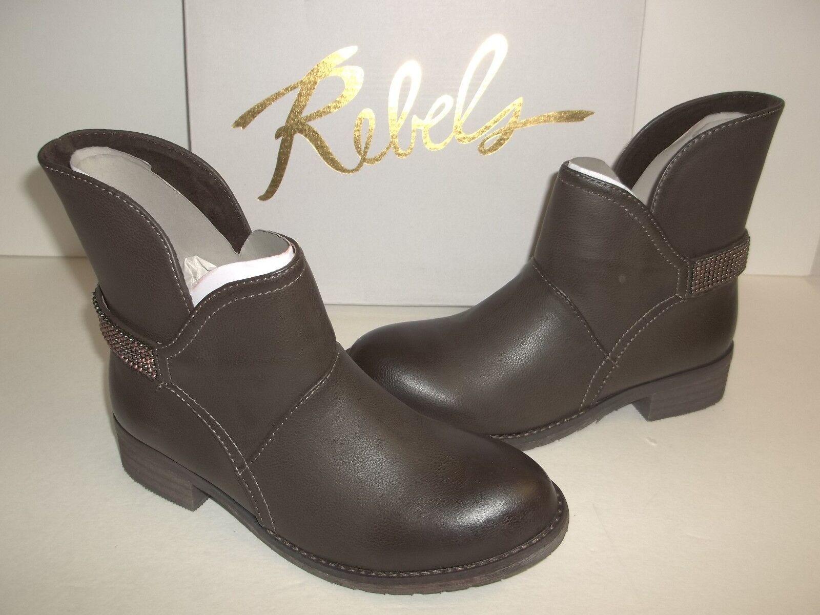 Rebels Größe 7 M Ellis Taupe Braun Schuhes Ankle Stiefel New Damenschuhe Schuhes Braun c32a48