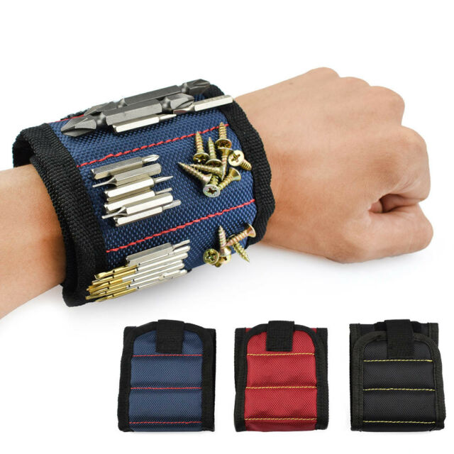 Magnetic Wristband Toolkit Belt Scissor Screw Holder Tool Storage Wrist Bracelet