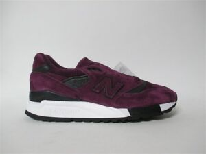 separation shoes 7d4de 26e90 Details about New Balance 998 Made in USA Purple Black White Sz 9.5 M998CM