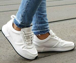 PX-flex-Schuhe-Fiona-05-1120-White-Weiss-Echtleder-Sneaker-Wechselfussbett-Damen