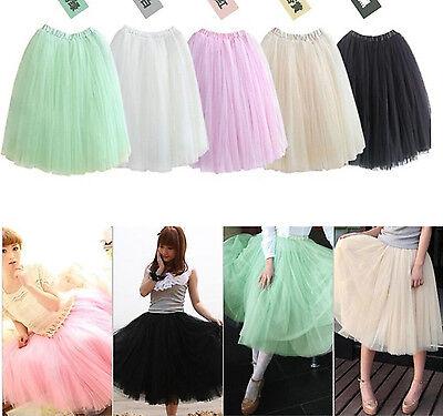 Mode féminine Princesse Fairy style 5 couches robe de jupe bouffant Skirt  Dress