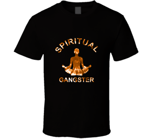 New Spiritual Gangster Yoga Meditation Gym Bodybuilding Black Men/'s T Shirt New