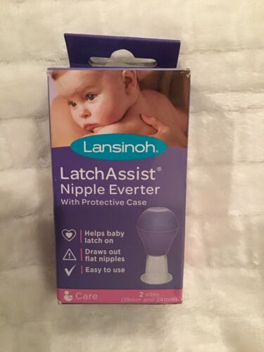 Lansinoh Latch Assist Nipple Everter Two Sizes 19mm /& 24mm For Flat Nipples New