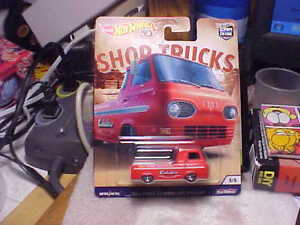 Hot Wheels 2018 Shop Trucks 60s Ford Econoline Pickup rot Car Culture Real Rider