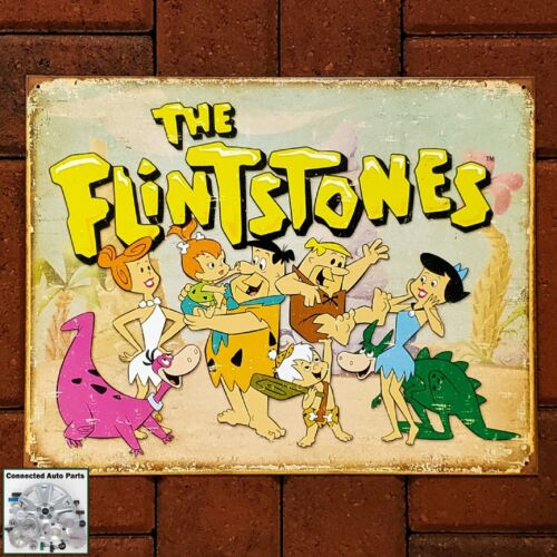 FLINTSTONES Family Retro Vintage Cartoon Tin Sign Man Cave Garage Decor S-1853