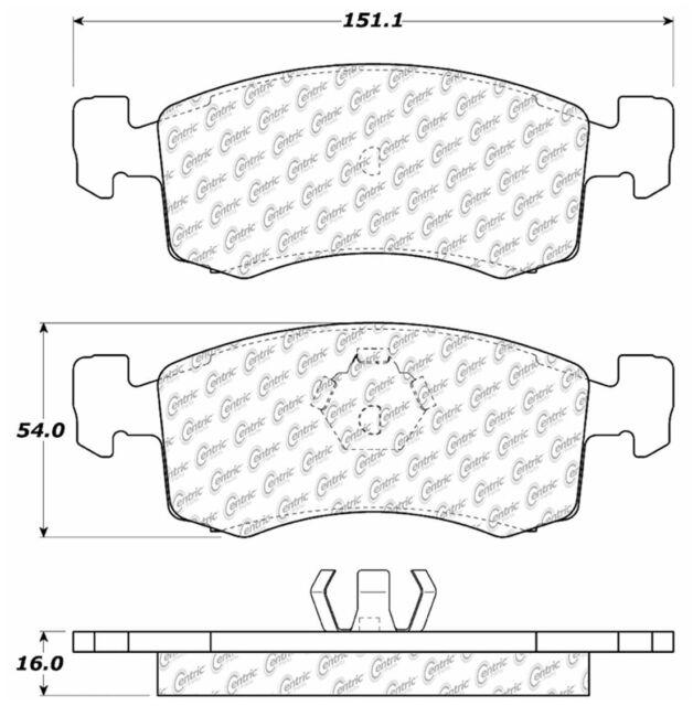 Disc Brake Pad Set-C-TEK Metallic Brake Pads-Preferred Front Centric 102.17760