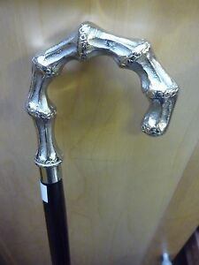 New Ebonised Silverplated Solid Brass Crook Head Walking Stick 2 - <span itemprop=availableAtOrFrom>CHINGFORD, London, United Kingdom</span> - If your not happy with your item,please send it back within 14 days and we will be more than happy to refund your money in accordance with the conditions set out below. All good - CHINGFORD, London, United Kingdom