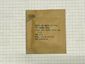 M1 CARBINE, SPRING , original pakage part, UNISSUED, GI