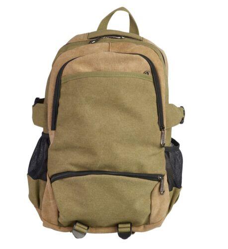 Men  Lorenz Two Tone heavy duty Canvas Backpack Rucksack Shoulder Laptop Bag