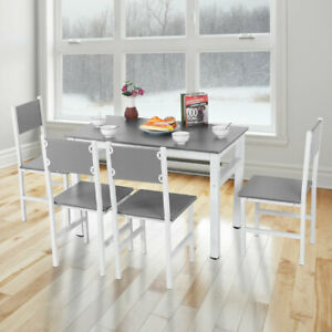 Modern Simple Dining Table And 4 Chairs Set Kitchen Dining Room Furniture Uk Ebay