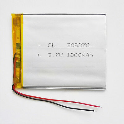 3.7V 1800mAh Rechargeable Li Po Polymer Battery For Power Bank Tablet PC 306070