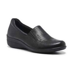 NEW-WOMENS-HUSH-PUPPIES-ODETTE-BLACK-LADIES-LEATHER-CASUAL-COMFORT-SHOES