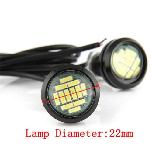 2Pcs 4014 12SMD Eagle Eye Light Red Lamps LED Bulb Fog Signal Turn Headlight  UQ