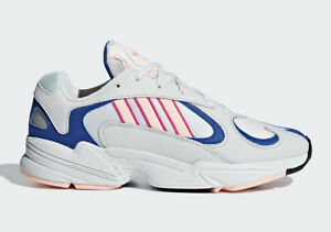 Adidas Originals Men's Yung-1 Shoes NEW AUTHENTIC White/Blue/Pink BD7654