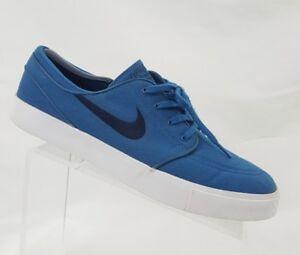 Details about Nike Stefan Janoski Men's Canvas Blue Obsidian Skateboard Shoes Sz 11.5