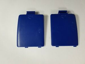 USED-SET-PAIR-OF-BLUE-BATTERY-COMPARTMENT-COVERS-LIDS-for-SEGA-GAME-GEAR-G51