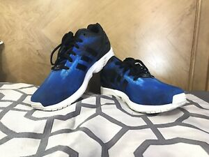 3b7dcf107b40c Image is loading ZX-Flux-Adidas-Beach-print-blue-and-black-
